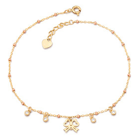 14k / 18k Love Ribbon anklet