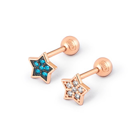 14K rolling star piercing [2 couples 1]