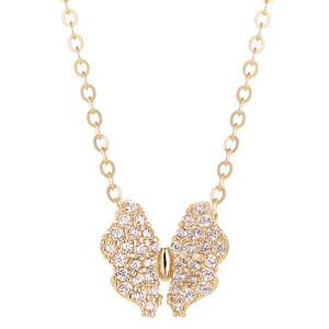 14K Butterfly Goddess Necklace [overnightdelivery]