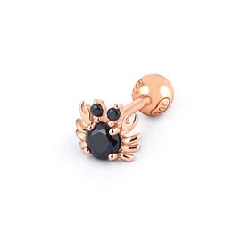 14K Black Crab Piercing