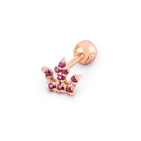 14K Ruby crown piercing