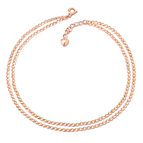 14k / 18k shirring two lines anklet [overnightdelivery]