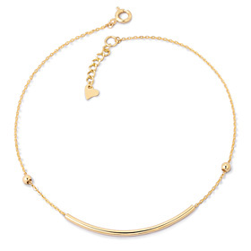14k thick anklet