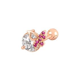 14K Ruby Butterfly Piercing
