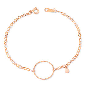 14k Circle ten pieces one piece bracelet [overnightdelivery]