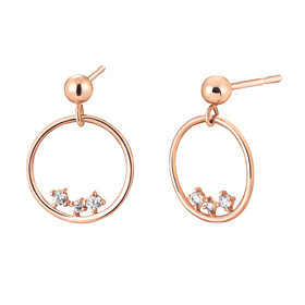 14K circle bell earring [overnightdelivery]