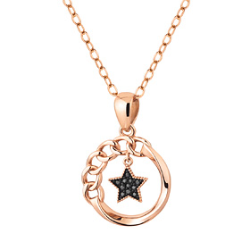 14K / 18K Star Circle Necklace