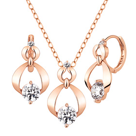 14K / 18K Shine dress set [Necklace + earring]