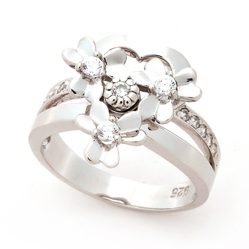 Silver Violet Silver Ring