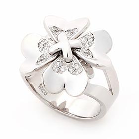 Silver Clover Silver Ring