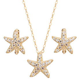 14K / 18k seastar set (Necklace + earring) [overnightdelivery]