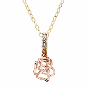 14K / 18K Barney Rose Necklace