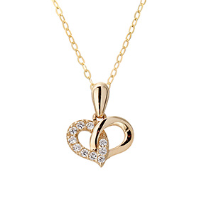 14K / 18K Ringing Heart Necklace