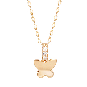14K / 18K mini butterfly elf Necklace [overnightdelivery]