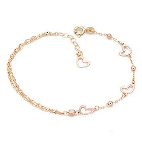 14K / 18K Edge Heart bracelet