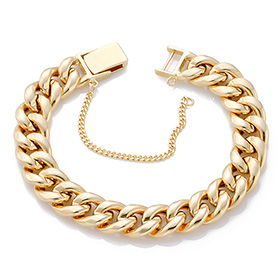 14K / 18K hollow curves JB178 bracelet
