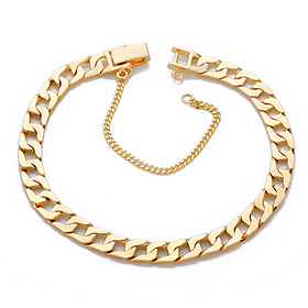 14K / 18K each chain JB981 bracelet (men, women's public)