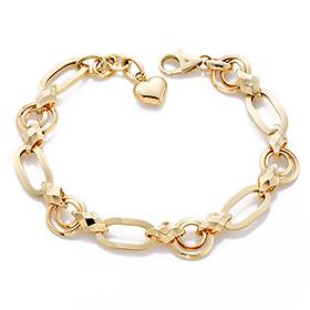 14K / 18K Circle Heart bracelet