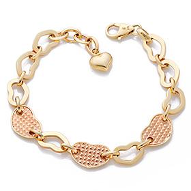 14K / 18K soft heart bracelet
