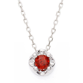 January Birthstone 3mm Natural garnet Tiara Necklace