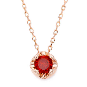 January Birthstone 4mm Natural garnet Tiara Necklace