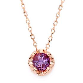February Birthstone 4mm naturalamethyst tiara Necklace