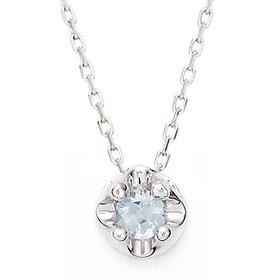 March Birthstone 3mm naturalaquamarine Tiara Necklace