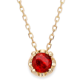 January Birthstone 5mm Natural garnet Tiara Necklace
