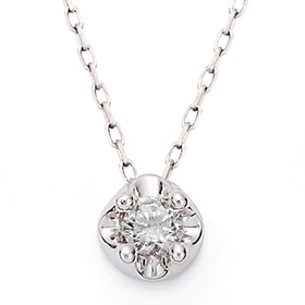 April Birthstone 3mm Natural White Topaz Tiara Necklace