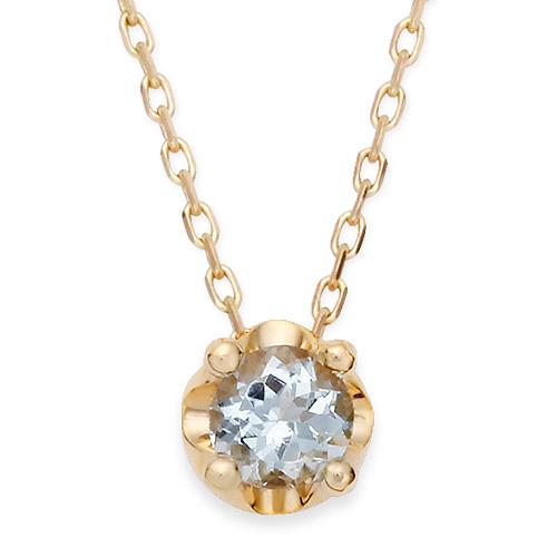 March Birthstone 5mm naturalaquamarine Tiara Necklace