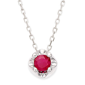 July birthstone 3mm natural ruby ​​tiara Necklace