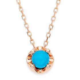 December Birthstone 4mm Natural Turquoise Tiara Necklace
