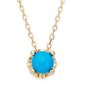 December Birthstone 5mm Natural Turquoise Tiara Necklace