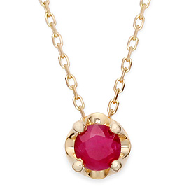 July birthstone 5mm natural ruby ​​tiara Necklace