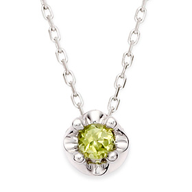 August Birthstone 3mm naturalperidot tiara Necklace
