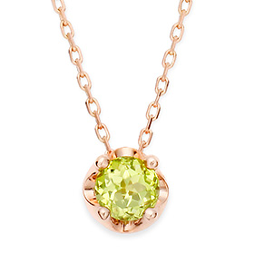 August birthstone 4mm naturalperidot tiara Necklace