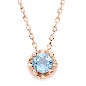 November Birthstone 4mm Natural Blue Topaz Tiara Necklace