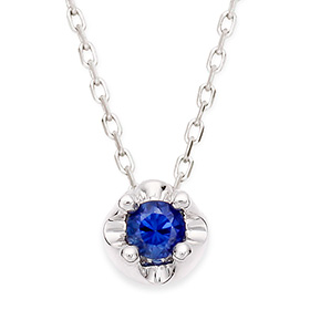 September birthstone 3mm natural sapphire Tiara Necklace