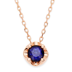 September birthstone 4mm natural sapphire Tiara Necklace