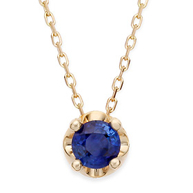 September birthstone 5mm natural sapphire tiara Necklace