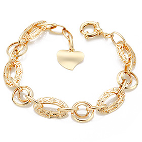 14K / 18K Hippie Heart bracelet