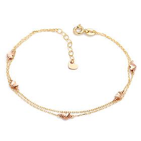 14K / 18K shiny heart bracelet