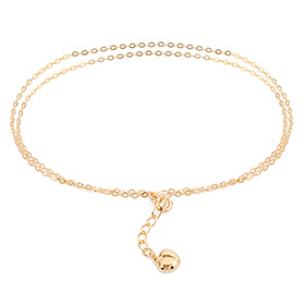 14k / 18k Wave Tong Heart two lines anklet [overnightdelivery]