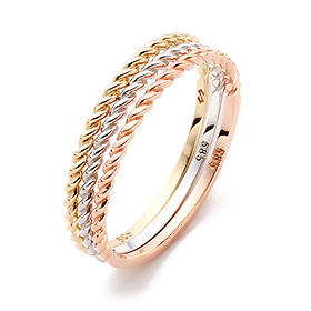 14K / 18K Bebe Rope Gold Ring