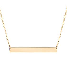 14K / 18K Simple Bar Integral Necklace