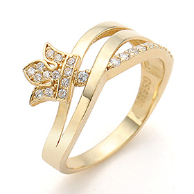 14K / 18K Branch Tiara Ring
