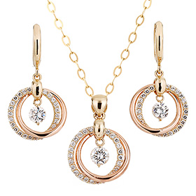 14K / 18K Noble set [Necklace + earring]