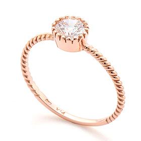 14K / 18K cupcake pretzel gold ring
