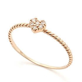 14K / 18K Heart Pudding Gold Ring