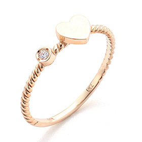 14K / 18K Amigo Heart Gold Ring